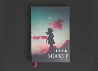 Free Hardcover Title & Inner Pages Mockup PSD Set (3)