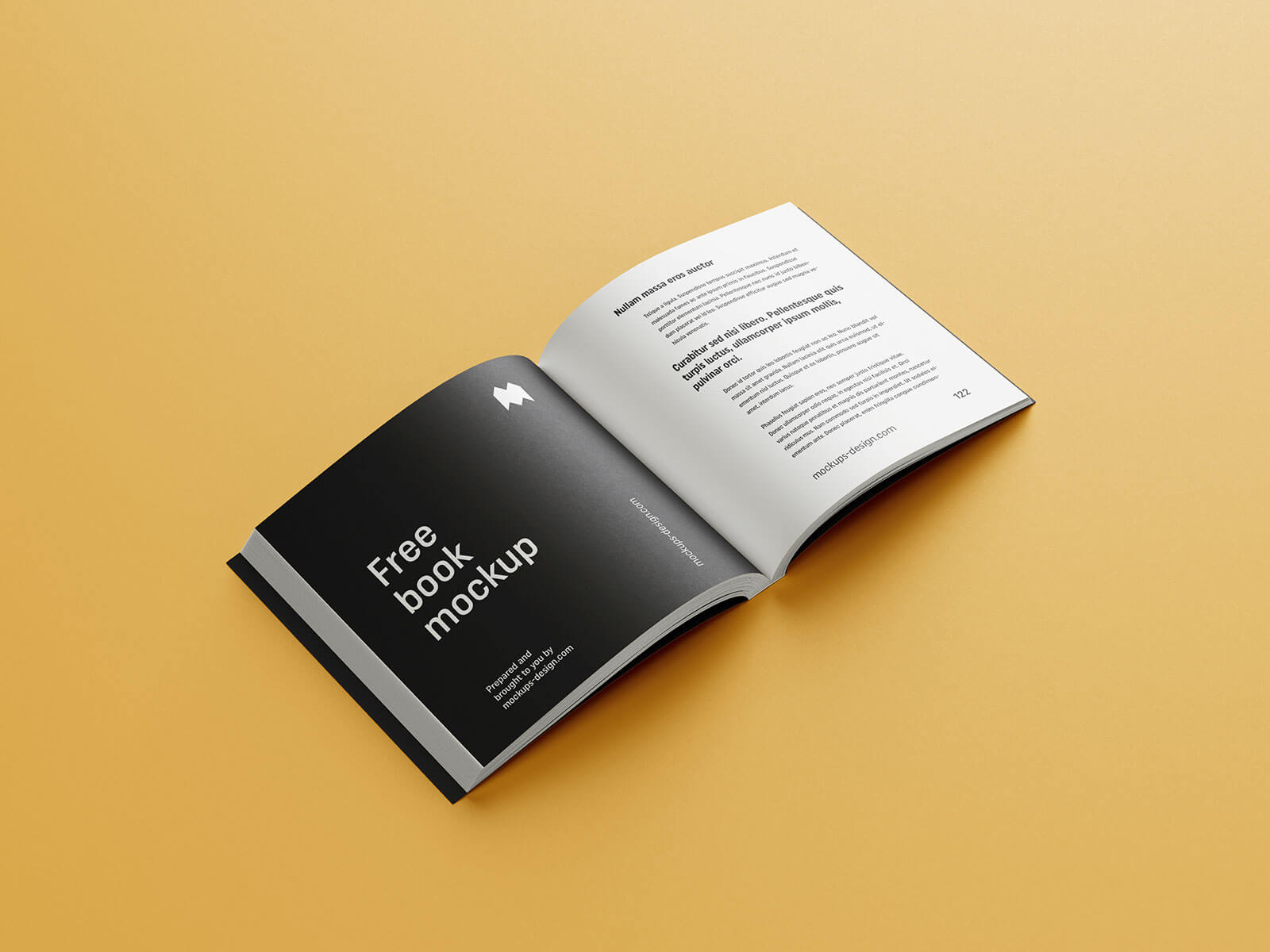 Free Square Paperback Book Mockup PSD Set (1)