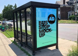 Free-Bus-Stop-Advertising-Poster-Mockup-PSD