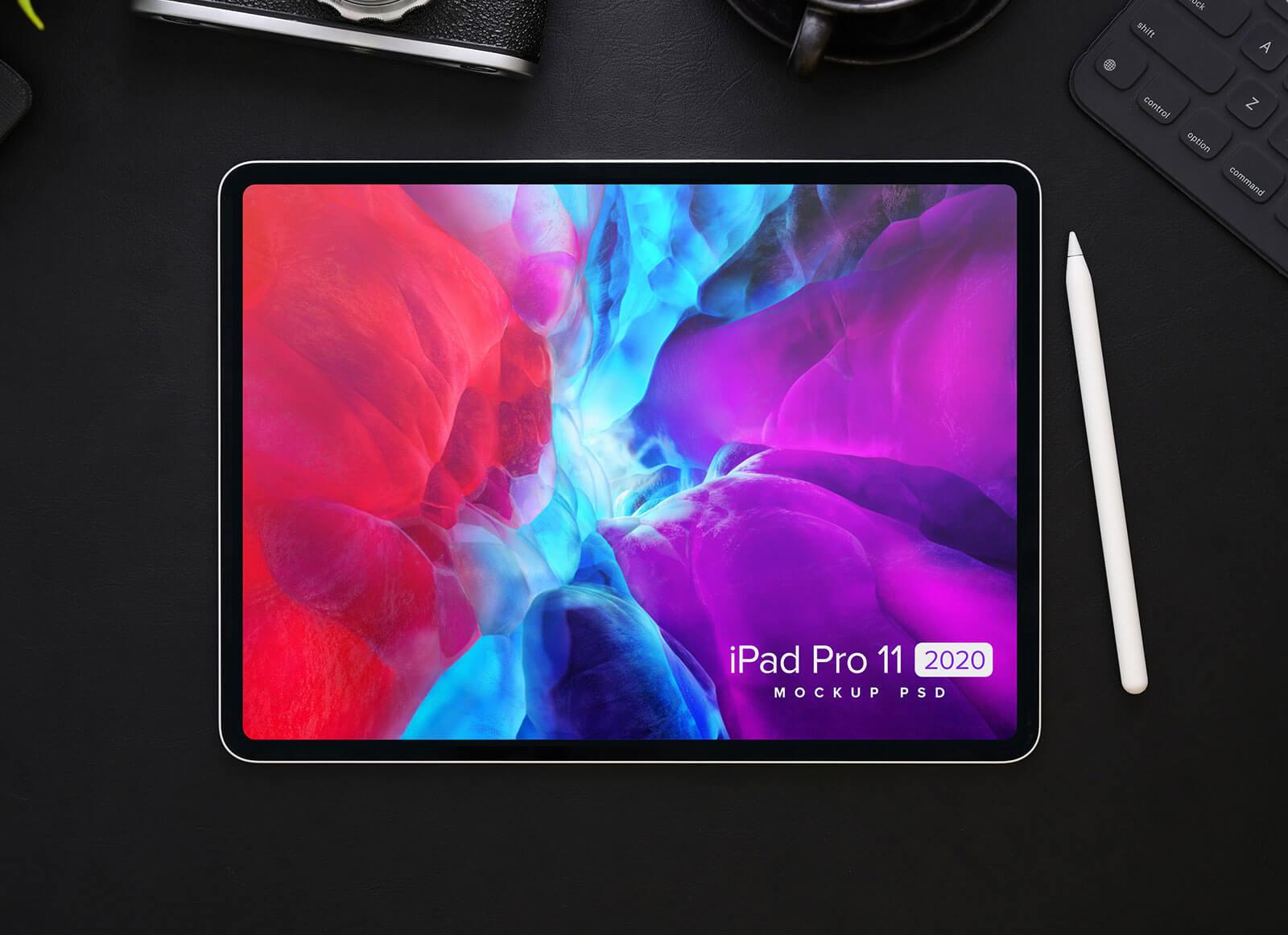 Free-Close-Up-iPad-Pro-Mockup-PSD