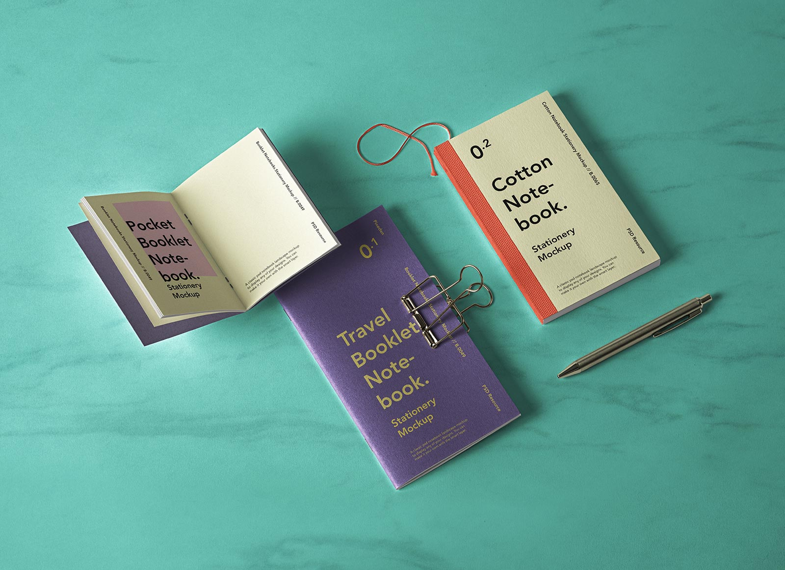 Free-Cotton-Notebook,-Pocket-Booklet-&-Travel-Literature-Book-Mockup-PSD