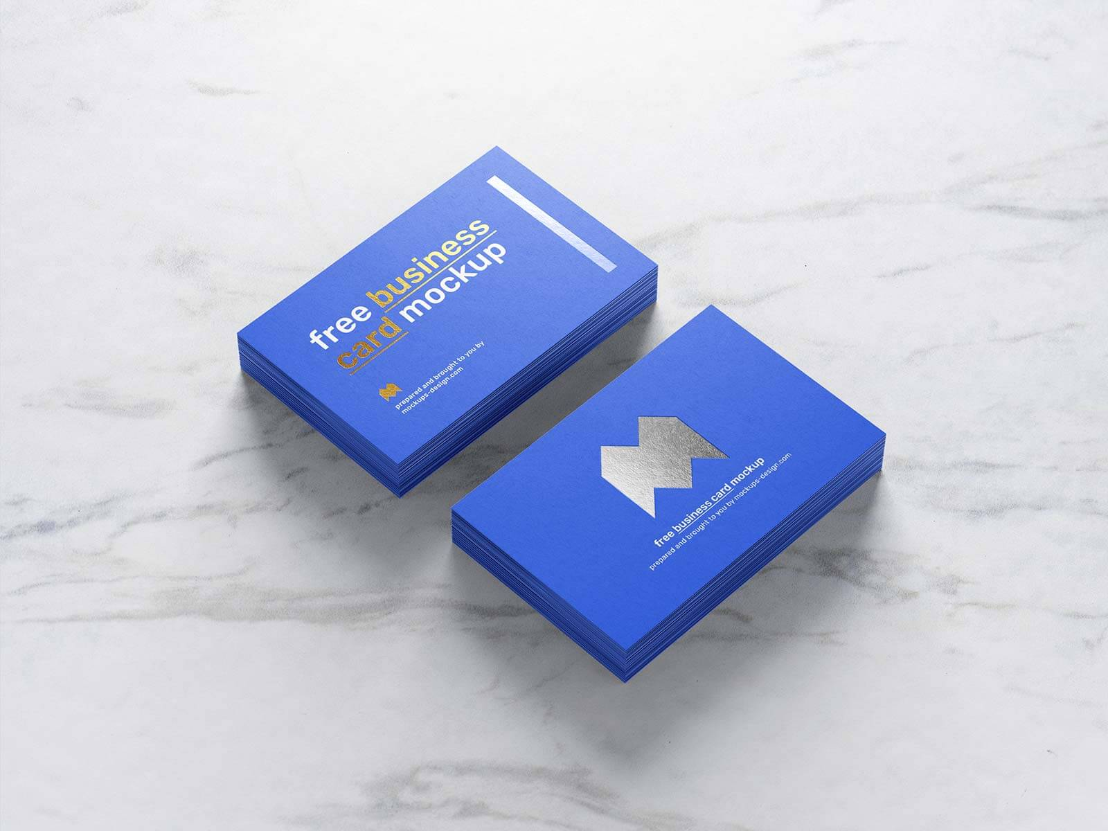 Free Gold & Silver Foil Business Card Mockup PSD Set (1)