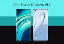 Free Mi 10 Mockup PSD & Ai Smartphone Mobile mock-up