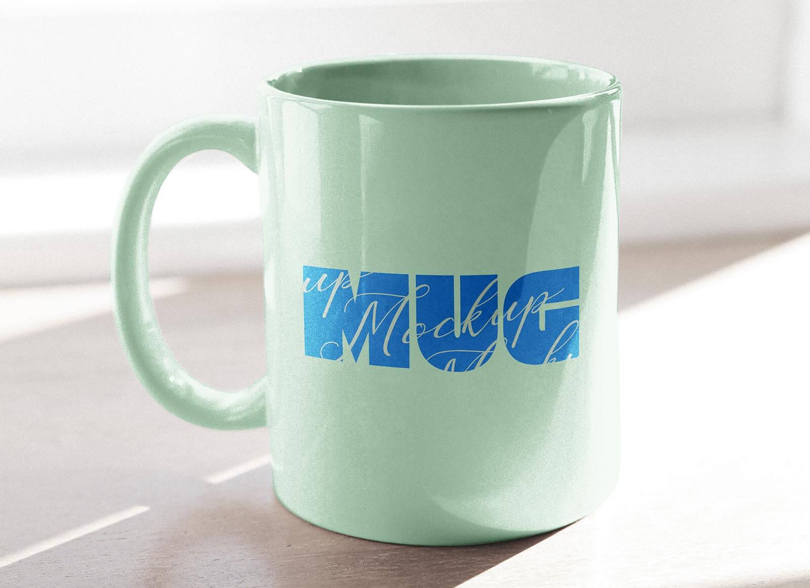 Free Sunlight Mug Mockup PSD