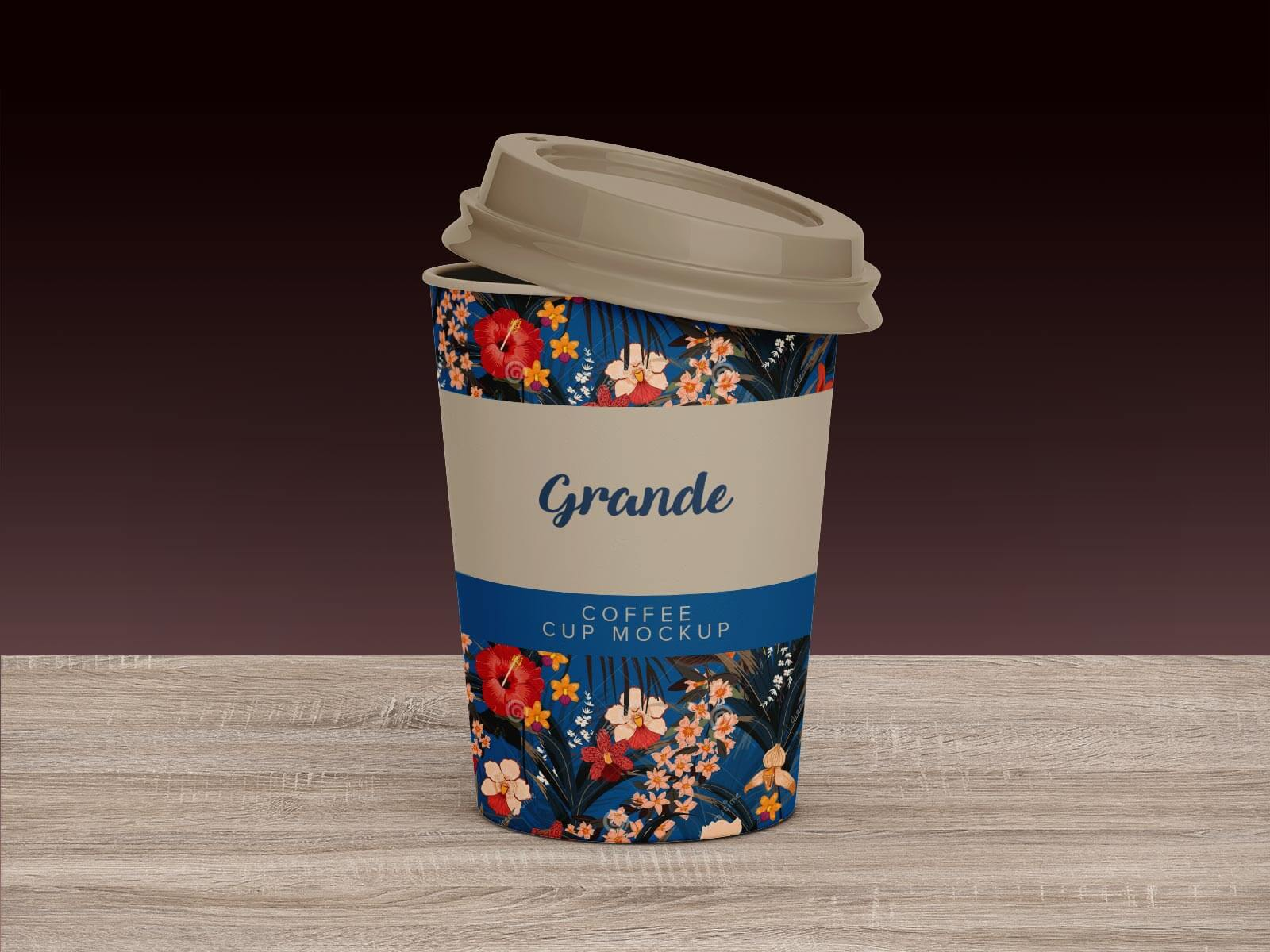 Free Venti, Grande & Short Paper Coffee Cup Mockup PSD Set (2)