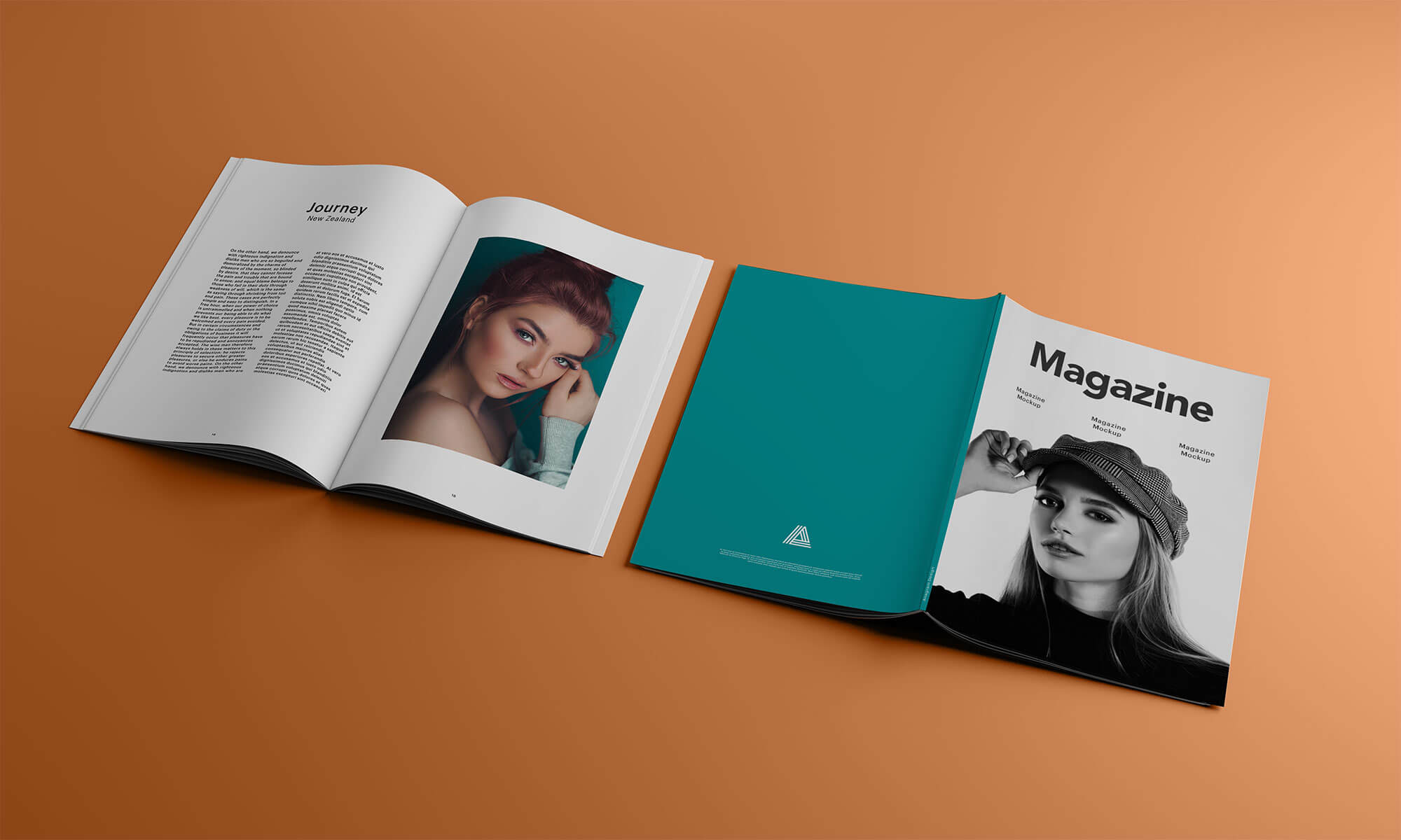 Download Free A4 Title & Inner Pages Magazine Mockup PSD - Good Mockups