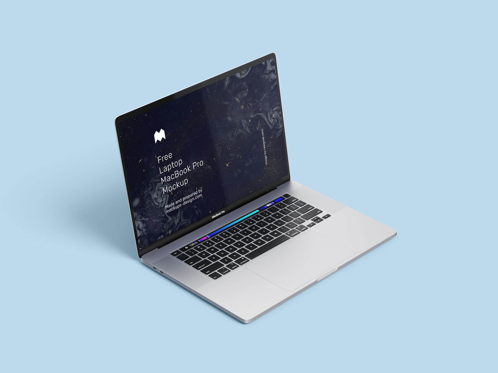Free Apple Laptop Macbook Pro Mockup PSD Set (1)