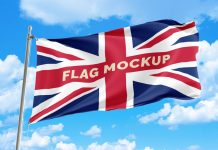 Free-Country-Flag-Mockup-PSD-File