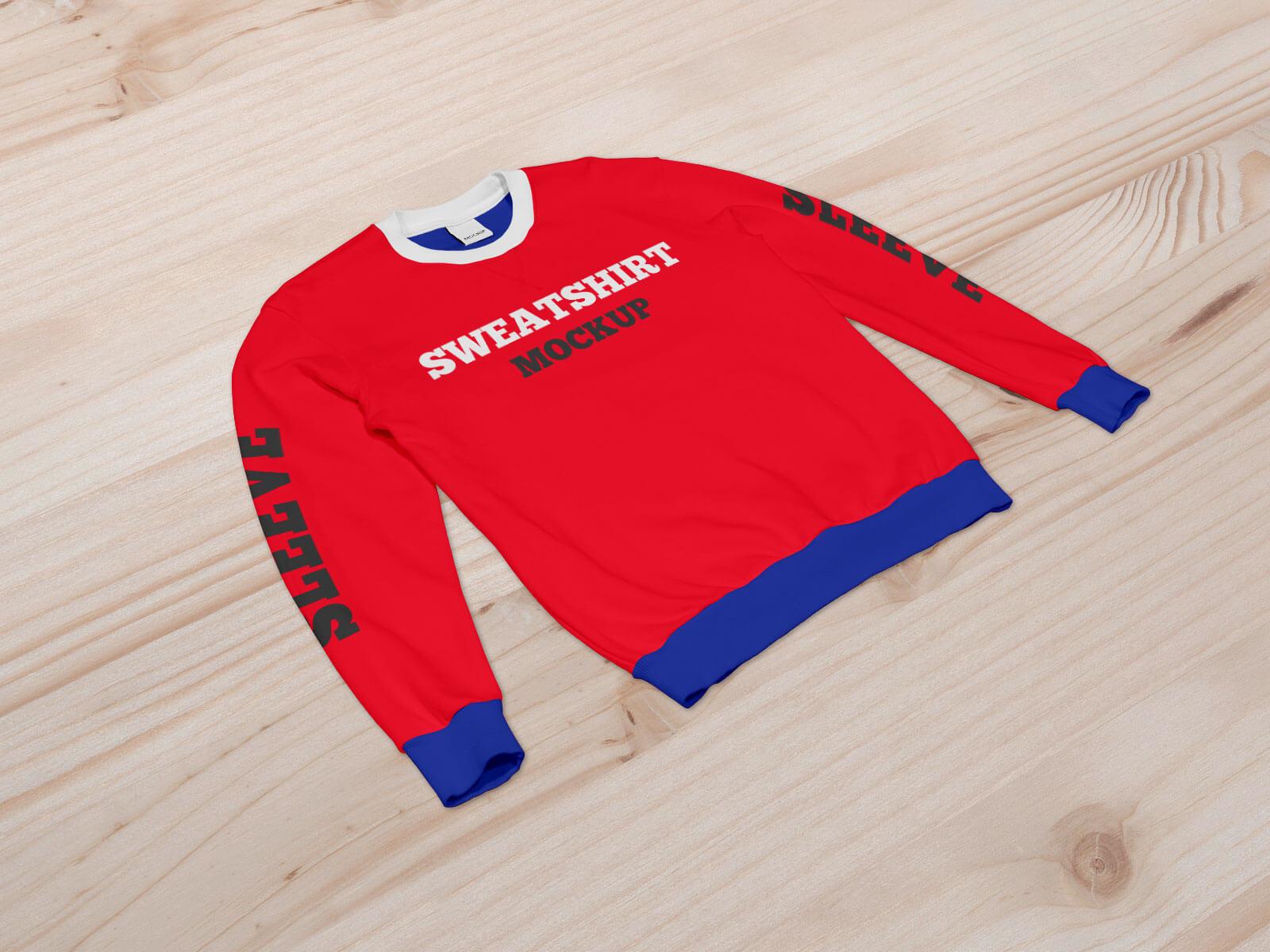 Free Crew Neck Sweatshirt Mockup PSD Set (1)
