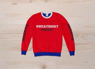 Free Crew Neck Sweatshirt Mockup PSD Set (2)