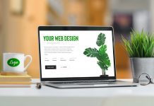 Free-Logo-On-Mug-&-Laptop-Website-Mockup-PSD
