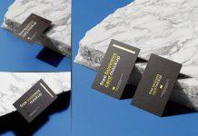 Free-Marble-Stone-Foil-Business-Card-Mockup-PSD-Set-4