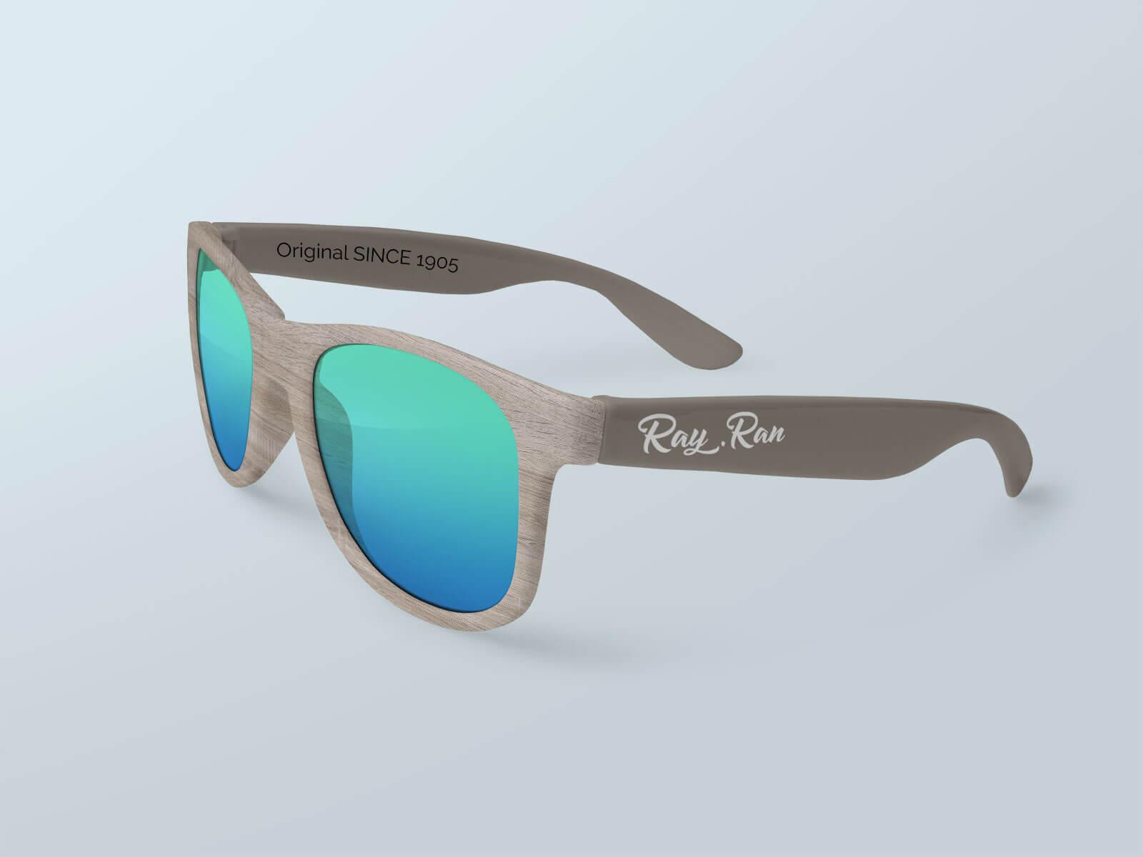 Free Men's Sunglasses Mockup PSD Set