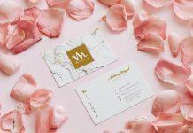Free-Pink-Rose-Petals-Business-Card-Mockup-PSD (1)
