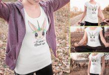 Free Smart Girl T-Shirt Mockup PSD Set