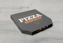 Free Takeaway Pizza Box Packaging Mockup PSD Set (2)
