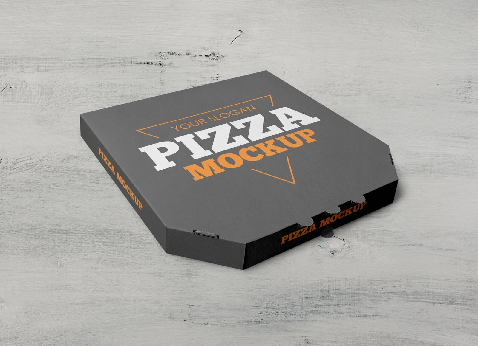 Free Takeaway Pizza Box Packaging Mockup PSD Set (2)