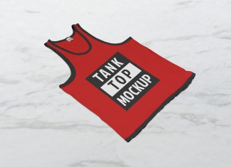 Free Tank Top Sleeveless Shirt Mockup PSD Set