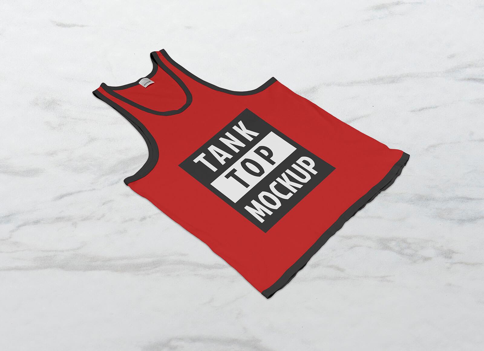 Free Tank Top Sleeveless Shirt Mockup PSD Set