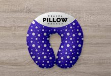 Free Travel Neck Pillow Mockup PSD Set (1)
