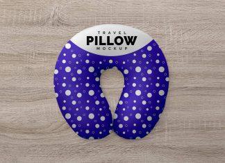 Free Travel Neck Pillow Mockup PSD Set (1)