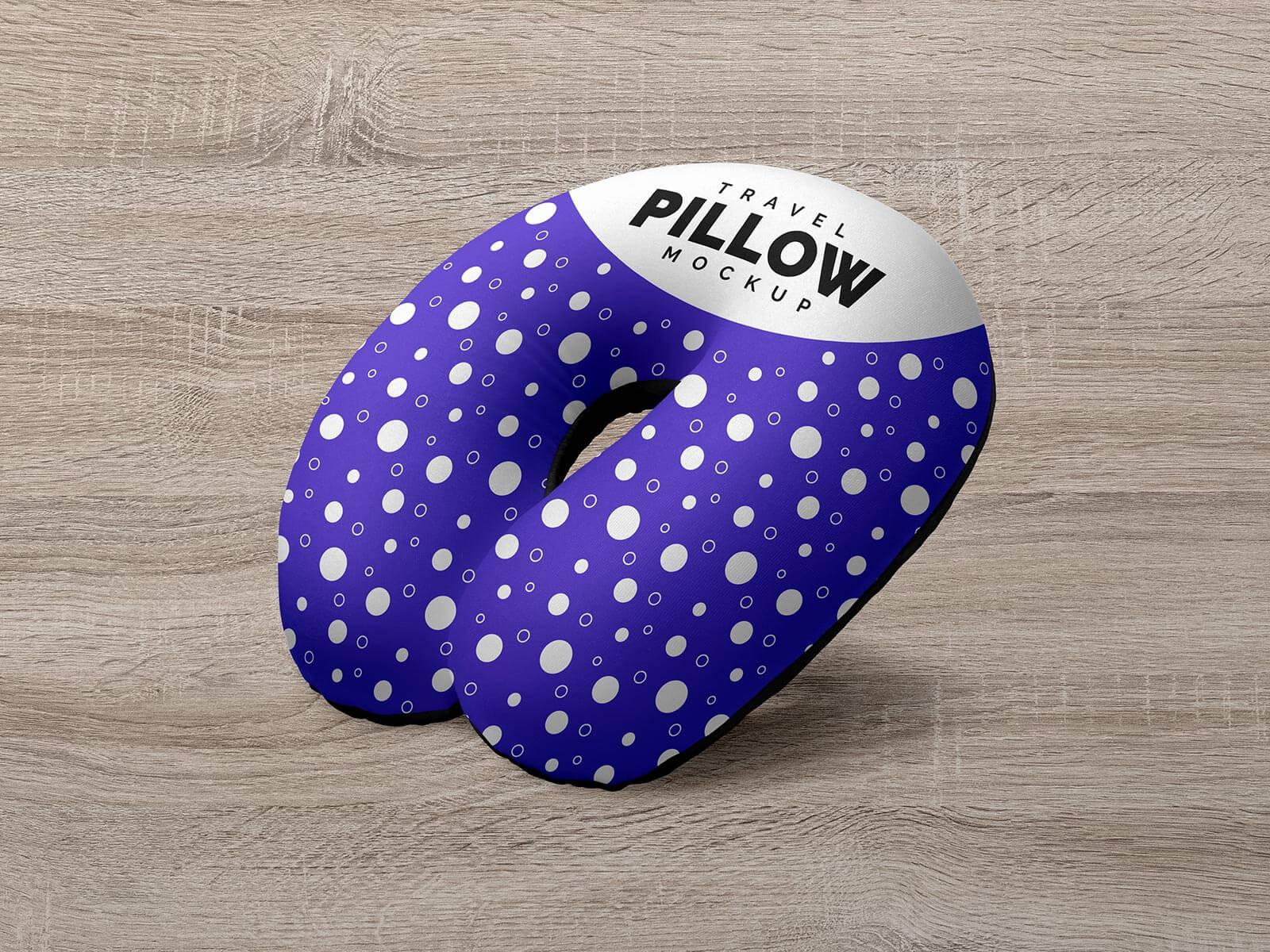 Free Travel Neck Pillow Mockup PSD Set (2)