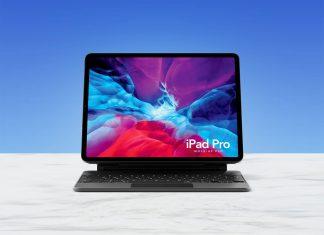 Free-iPad-Pro-2020-With-Keyboard-Mockup-PSD