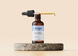 Free Dropper Glass Bottle Mockup PSD Set (1)
