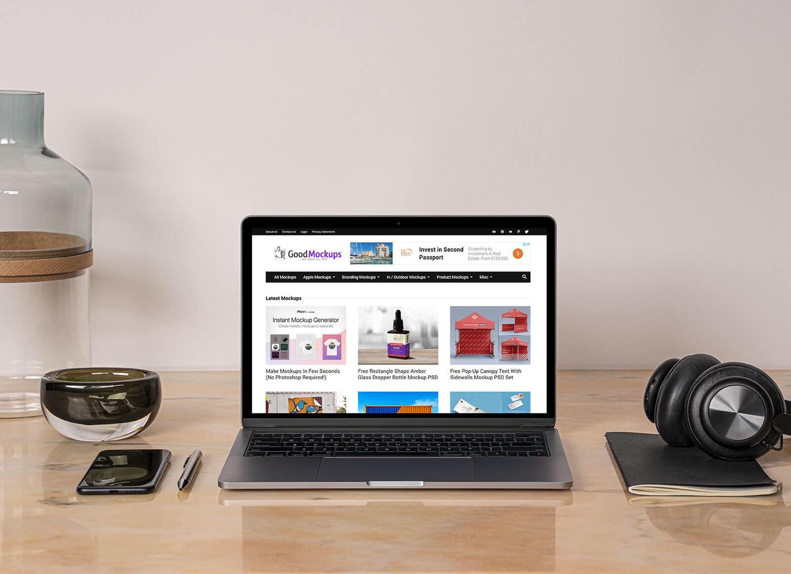 Free-MacBook-Pro-3D-Scene-Mockup-PSD