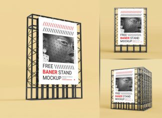 Free-Poster-Banner-on-Steel-Structure-Stand-Mockup-PSD-Set-(4)