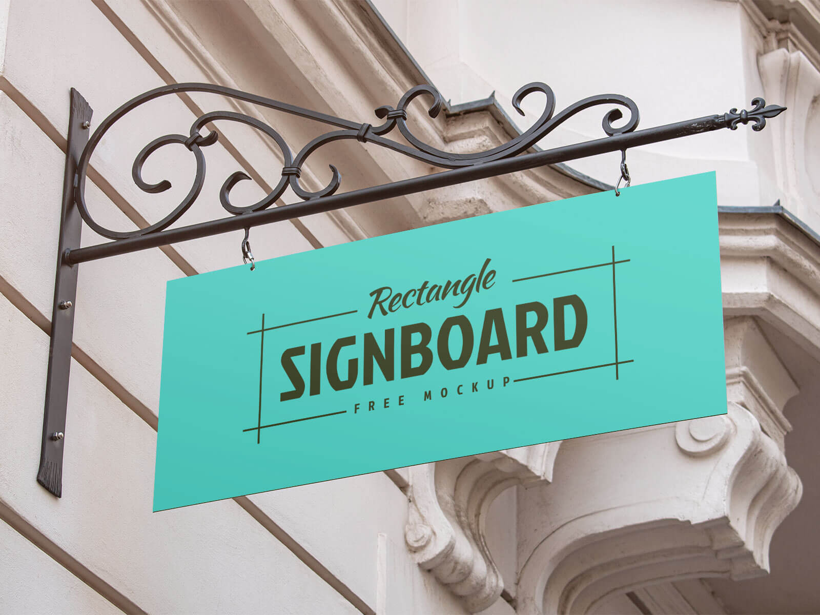 Free-Vintage-Wall-Mounted-Rectangle-Signboard-Mockup-PSD-Set