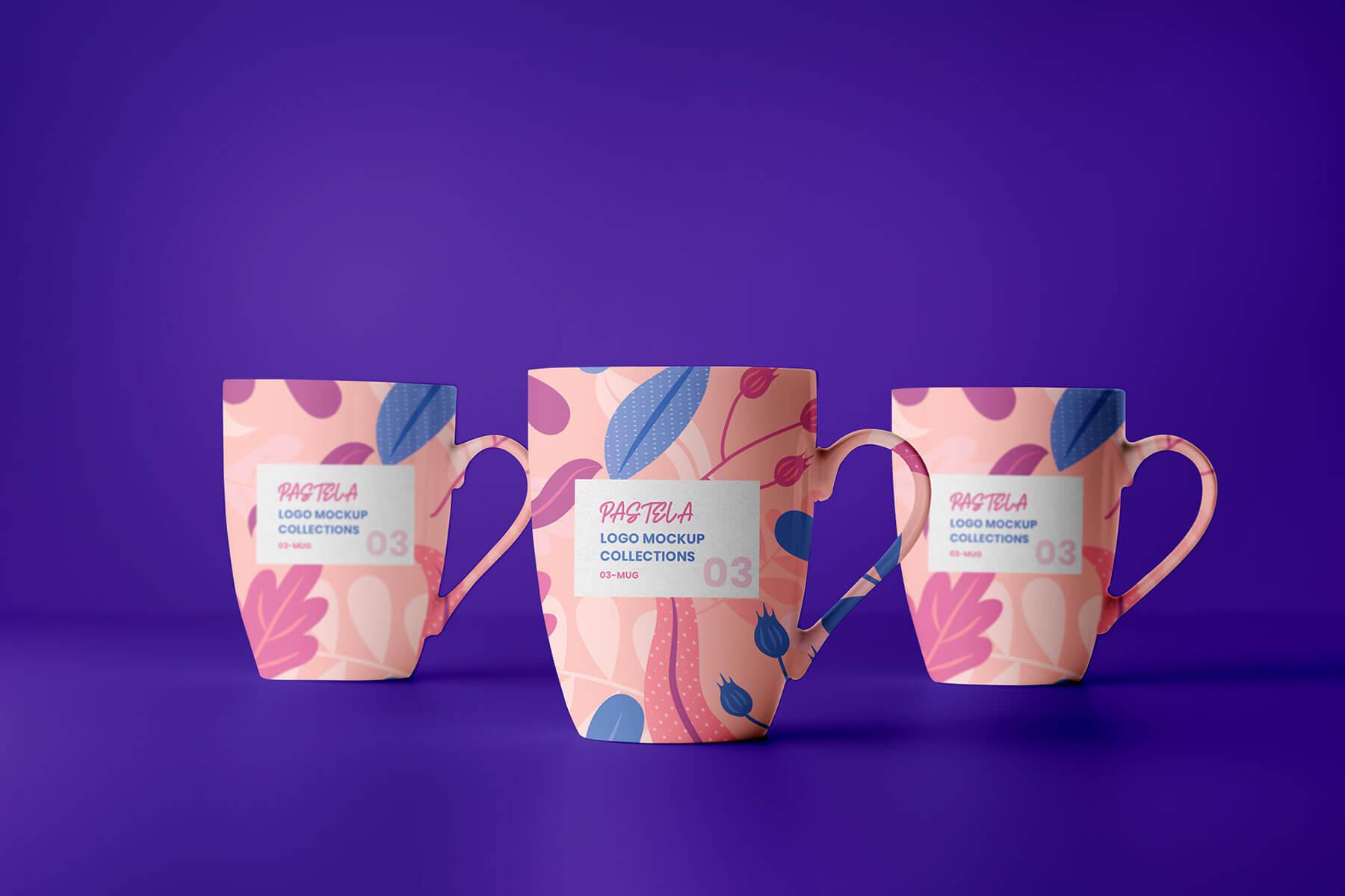 mug set mockup free