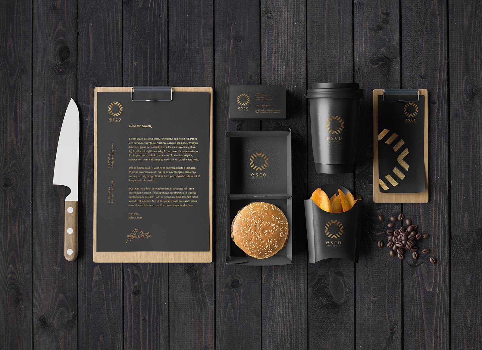 Free-Dark-Coffee-Brand-Identity-Stationery-Mockup-PSD