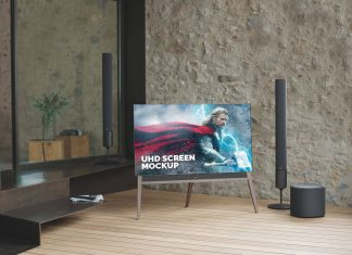 Free-Edge-To-Edge-TV-Full-Screen-LCD-Mockup-PSD