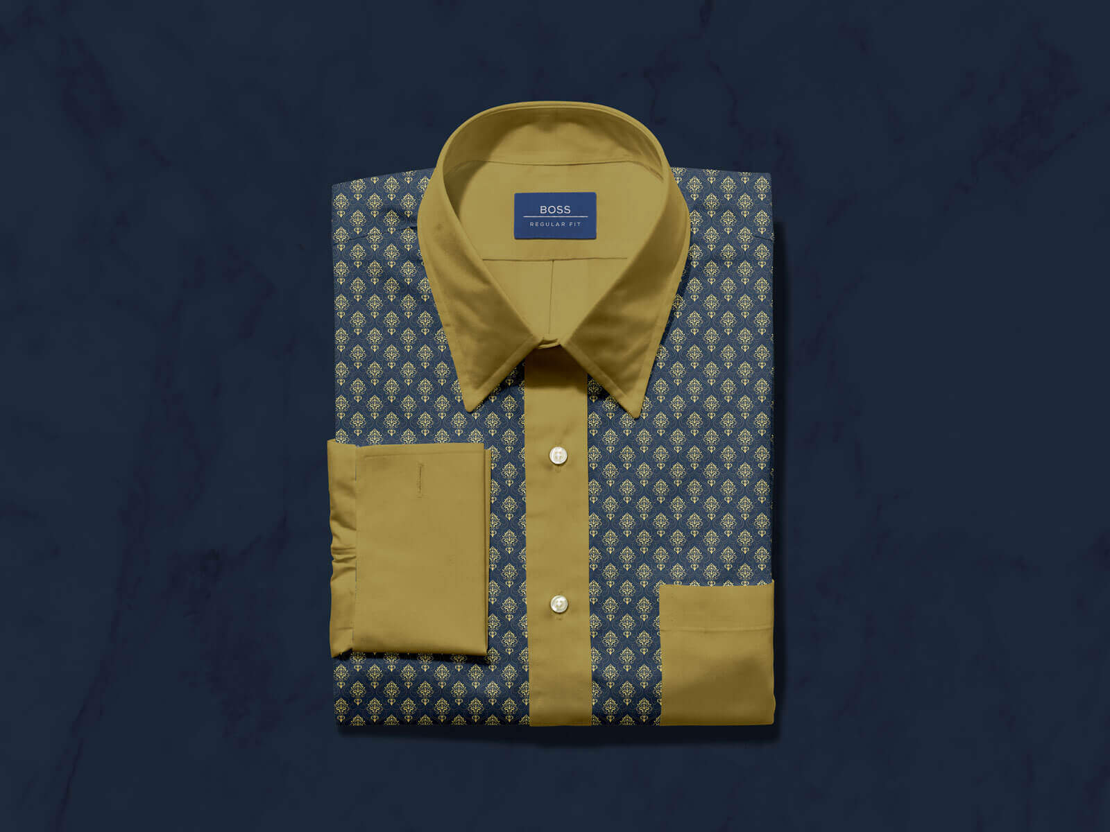 Free-Folded-Dress-Shirt-with-Label-Mockup-PSD