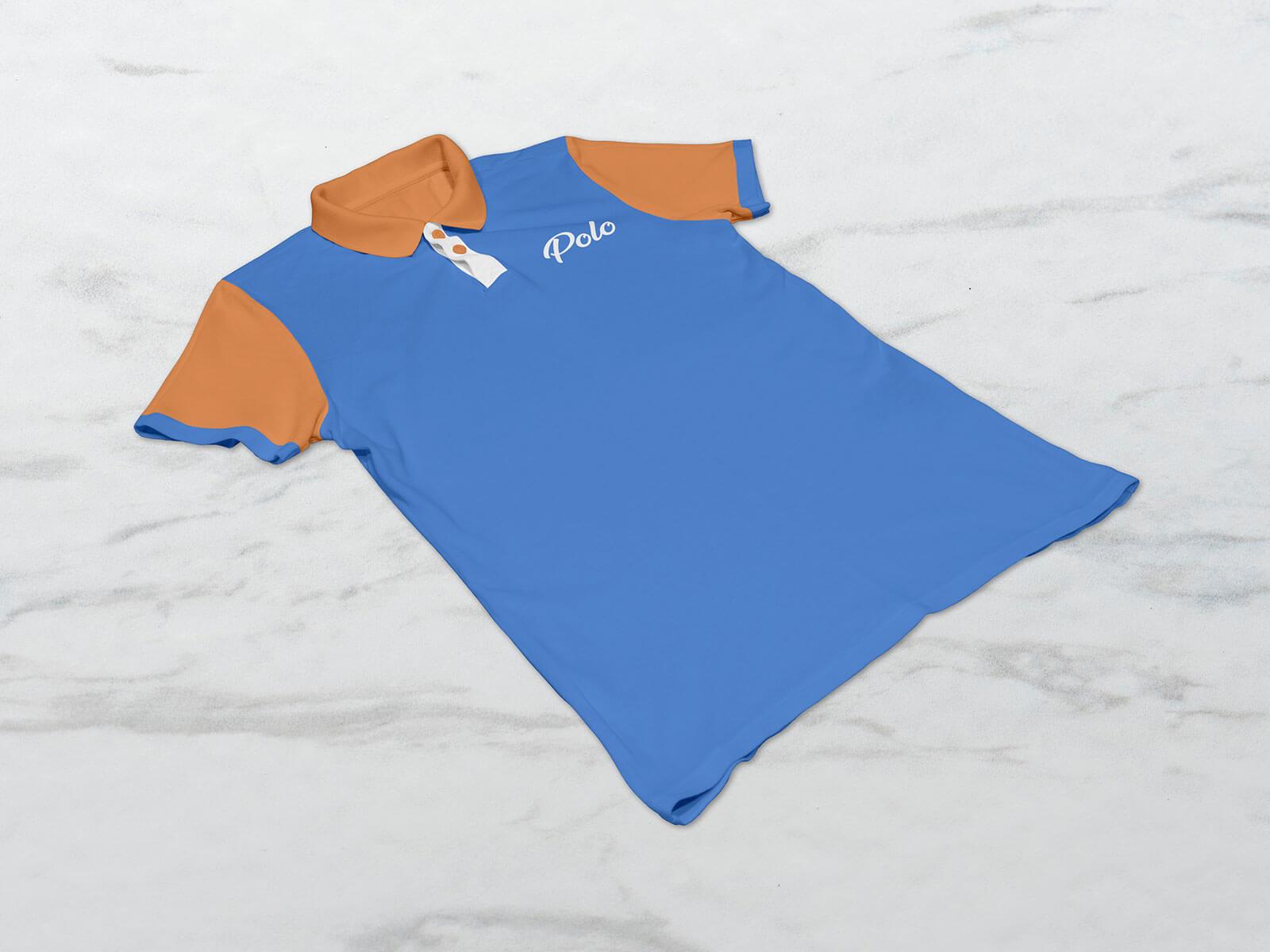 Free Half Sleeves Polo T-Shirt Mockup PSD Set (1)