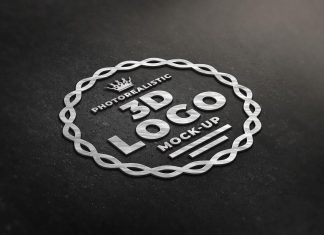Free-Photorealistic-Steel-3D-Logo-Mockup-PSD