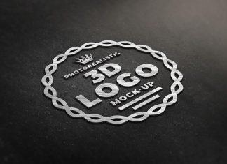 Free-Photorealistic-Steel-3D-Logo-Mockup-PSD