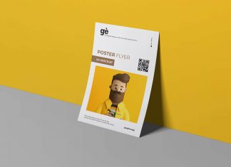 Free-Standing-Against-Wall-A4-Paper-Flyer-Mockup-PSD-File