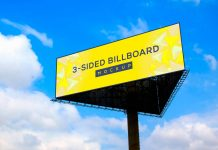 Free-Triangle-3-Sided-Unipole-Billboard-Mockup-PSD