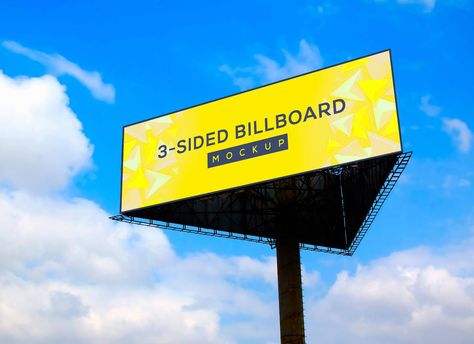 Free-Triangle-3-Sided-Unipole-Billboard-Mockup-PSD