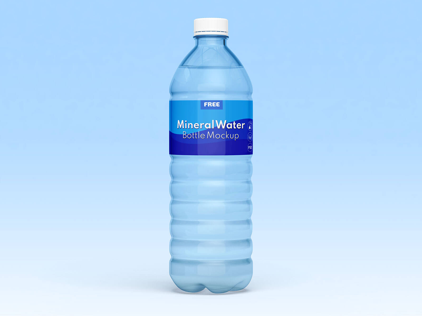 Free 1.5 & 0.5 Liter Drinking  Mineral Water Bottle Mockup PSD Set