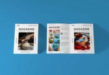 Free Cover & Open Magazine Mockup PSD