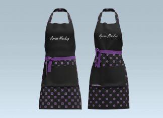 Free-Men--Women-Cooking-&-Baking-Chef-Apron-Mockup-PSD-Set