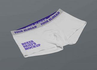 Free Men's Boxer Briefs Mockup PSD Set