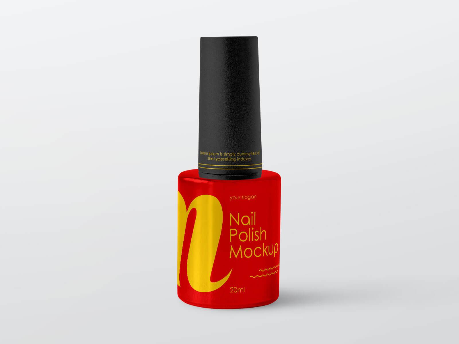 Free Nail Polish Bottle Mockup PSD Set (1)
