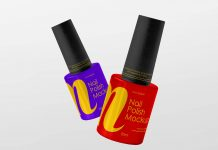 Free Nail Polish Bottle Mockup PSD Set (2)
