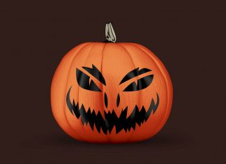 Free-Painted-Halloween-2020-Scary-Pumpkin-Mockup-PSD-3