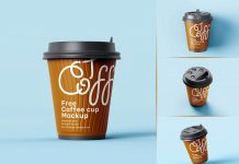 Free Premium Paper Coffee Cup Mockup PSD Set (5)