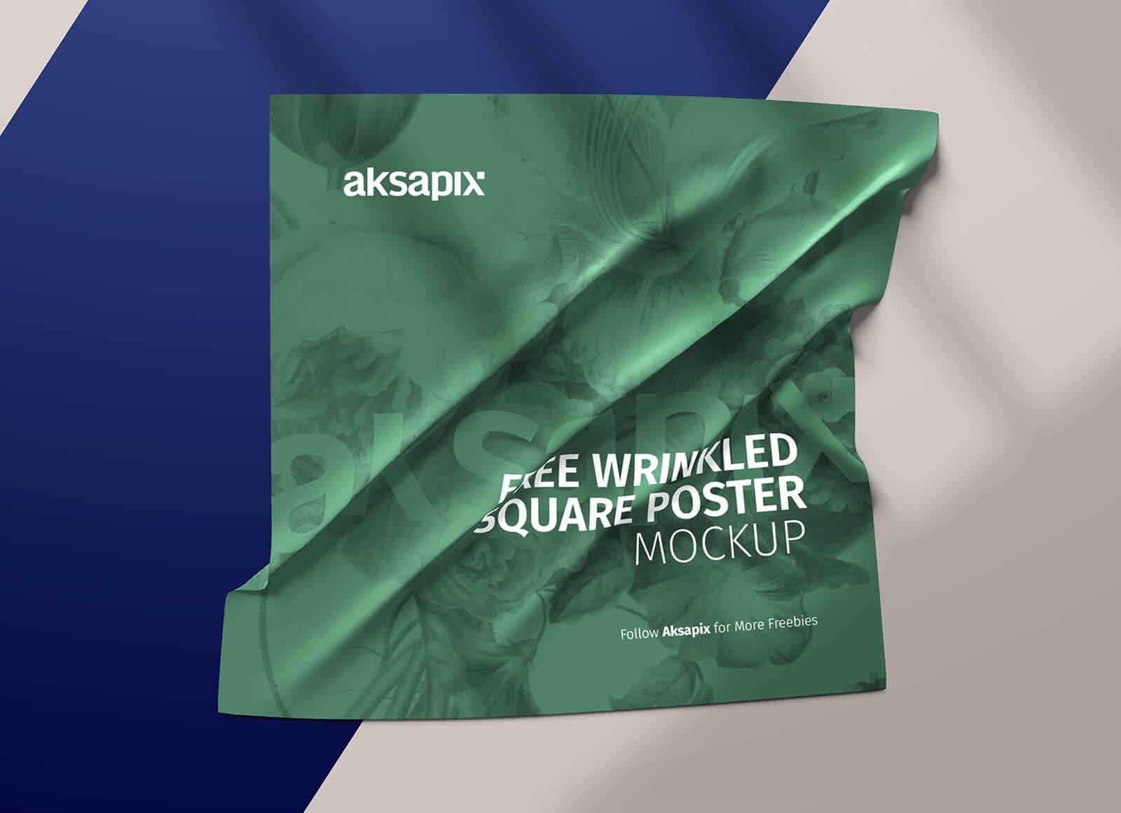 Free-Wrinkled-Square-Poster-Mockup-PSD